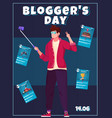 bloggers day card vector image vector image