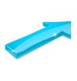 blue arrow shiny 3d icon vector image vector image