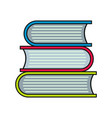 book icon isolated on a white background vector image vector image