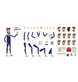 businessman constructor or male cartoon vector image vector image