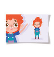 cartoon character animation little boy wearing vector image