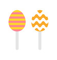 chocolate egg isolated easter flat style icon vector image vector image