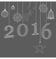 Christmas decoration Polygon vector image vector image