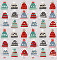 christmas seamless pattern with colorful knitted vector image