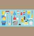 cleaning and disinfection tools vector image