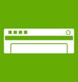 conditioner icon green vector image vector image