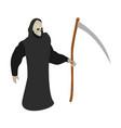 death scythe icon isometric style vector image