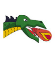 dragon head game item vector image