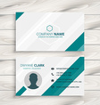 elegant clean business card vector image vector image