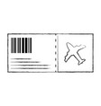figure airplane ticket travel to vacation tourism vector image vector image