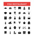 fish restaurant barbeque thin line vector image vector image
