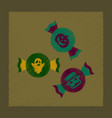 flat shading style icon halloween candy vector image vector image