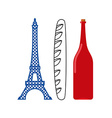 France flag of tourist attractions in ountry vector image vector image