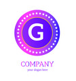 g letter logo design g icon colorful and modern vector image vector image