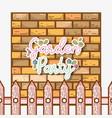 garden party card vector image vector image