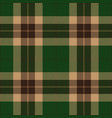 green and brown tartan plaid seamless pattern vector image vector image
