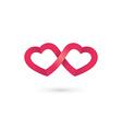 heart infinity loop logo icon design template vector image vector image