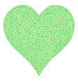 hearts suit mosaic of small circles vector image vector image