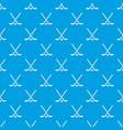 hockey stick pattern seamless blue vector image vector image