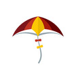 kid kite icon flat style vector image