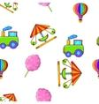 Kids games pattern cartoon style vector image vector image