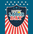 labor day poster vector image vector image