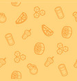 lemonade outline isometric pattern vector image vector image