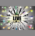 live music guitars in circle vector image vector image