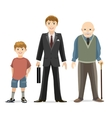 Man age progress vector image