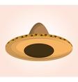 mexican classic sombrero icon vector image vector image