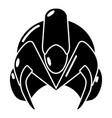 motorcycle helmet fantastic icon simple black vector image