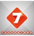 Number set orange - flat design vector image vector image