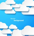 Paper clouds banner with drop shadows vector | Price: 1 Credit (USD $1)