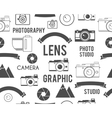 Photography symbols elements seamless pattern vector image vector image