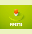 pipette isometric icon isolated on color vector image