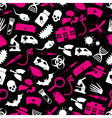 Plague and disease theme simple seamless pattern