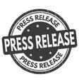 press release grunge rubber stamp vector image vector image