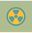 Radiation color flat icon vector image vector image