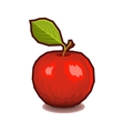 Red Apple with Leaf Icon vector image