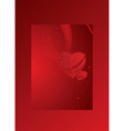 red card with heart valentines day vector image vector image