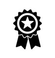 reward grade star award ribbon or prize medal vector image
