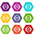 sale label 50 percent off discount icon set color vector image