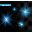 set glowing light effect stars bursts vector image vector image