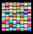 set multicolored gradients vector image