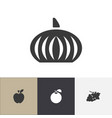 set of 4 editable berry icons includes symbols vector image