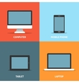 Set of electronic devices flat icons vector image vector image