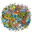 seychelles hand drawn cartoon doodles vector image vector image