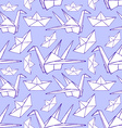Sketch origami seamless pattern vector image vector image