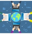 Teamwork Concept of global business communication vector image vector image
