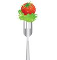 vegie fork vector image vector image